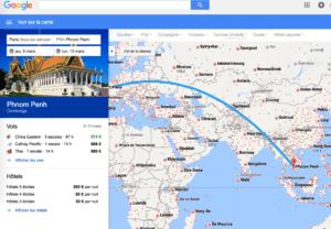 Google flights résultats pertinents