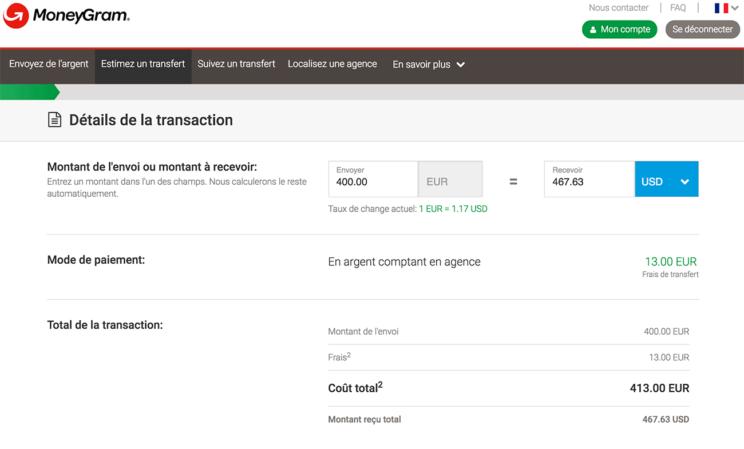 MoneyGram agence pour envoyer de l'argent au Cambodge